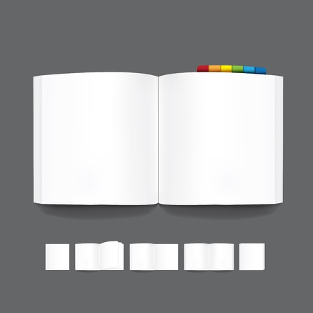 book blank page template for design Vector Vector