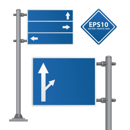 road sign blue color Stock Vector - 13618004
