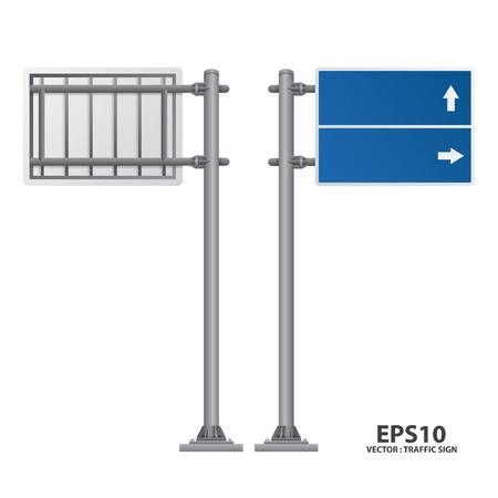 information highway: road sign blue color
