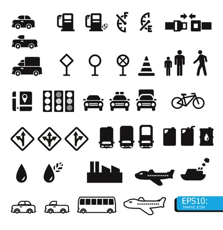 traffic icons Stock Vector - 13618010