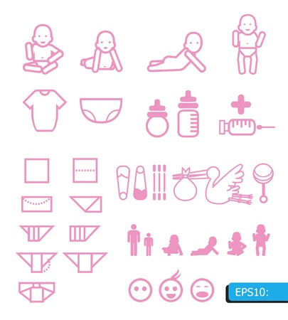 baby icons  Stock Vector - 13834486