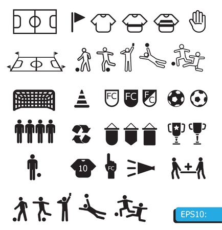 ICON SOCCER Stock Vector - 13834485