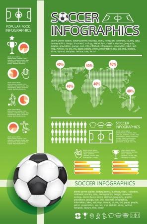 arquero futbol: infograf�a del f�tbol Vectores