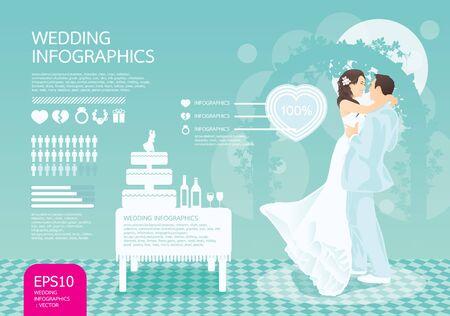 infographic wedding set Stock Vector - 13834512