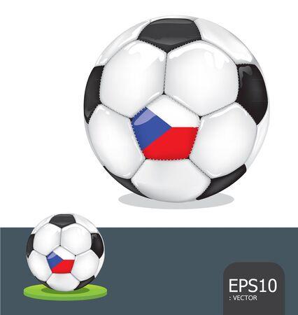 soccer ball czech euro flag Stock Vector - 13971479