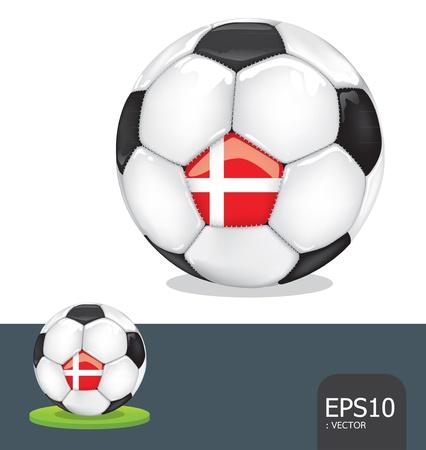 soccer euro2012 denmark Vector