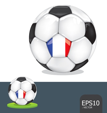 soccer euro2012 france Vector