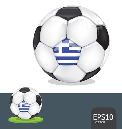 soccer euro2012  greece Stock Vector - 13971486