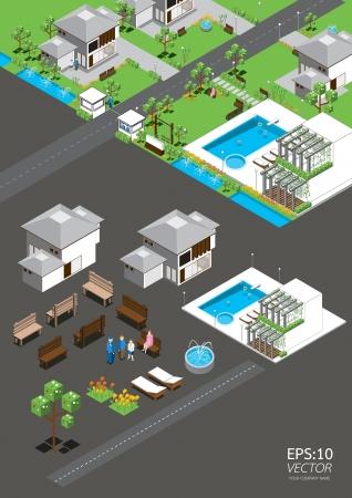 isometric: village isometric