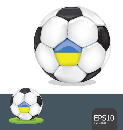 soccer ball   ukraine euro flag Vector