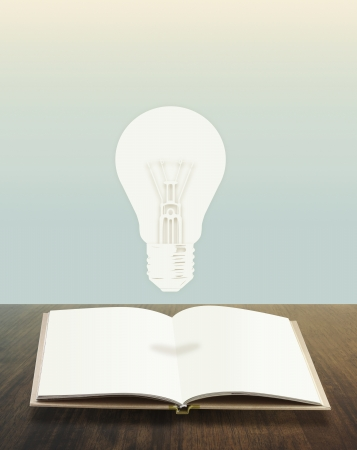 light bulbs book conceptual style photo