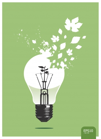 light save  plant concept Stock Vector - 14098516