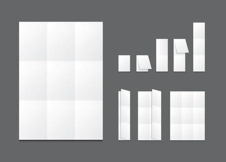 Blank white folding paper flyer Stock Vector - 14303159
