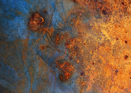rivets: abstract cracked metal background