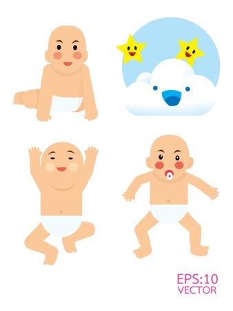 hysterical: baby boy  Illustration