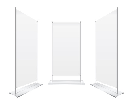 perspective Blank roll up banner display