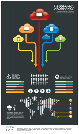 info graphics: infographic  technology computer  Illustration