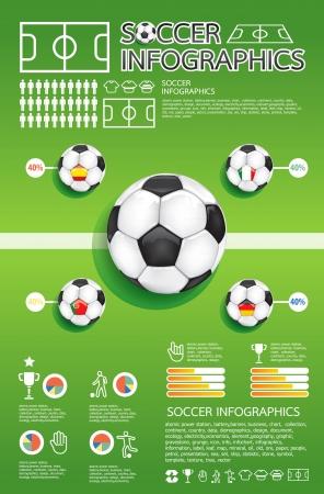arquero futbol: futbol informaci�n gr�fica Vectores