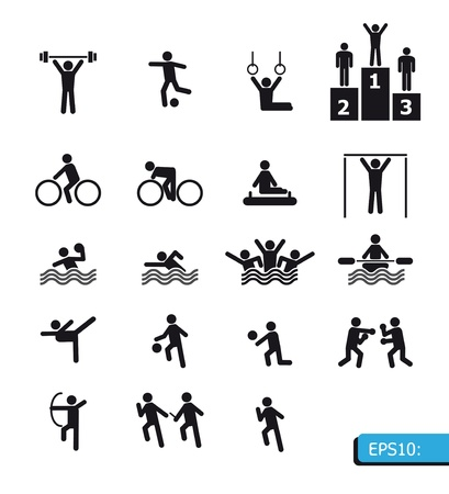 piktogram: ikony sportu Ilustracja