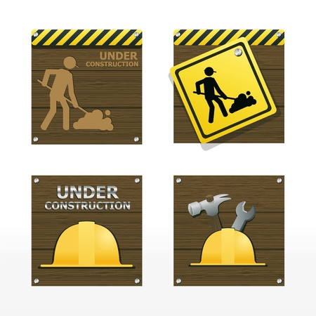 beware traffic sign on wood background vector  Vector