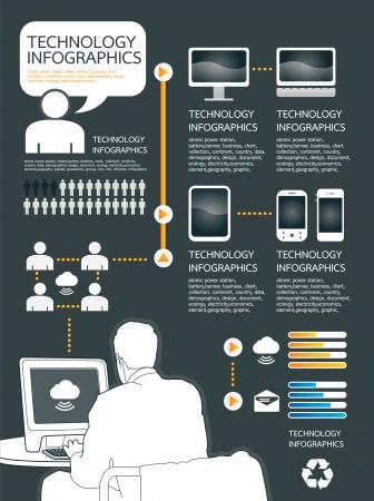 tecnolog�a infogr�fica conjunto de equipos