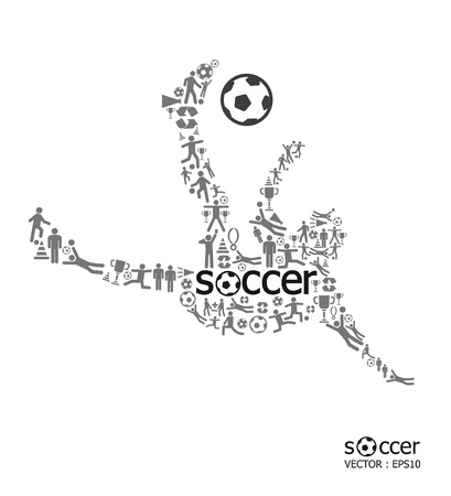 icons sports  concept soccer on white background Vector