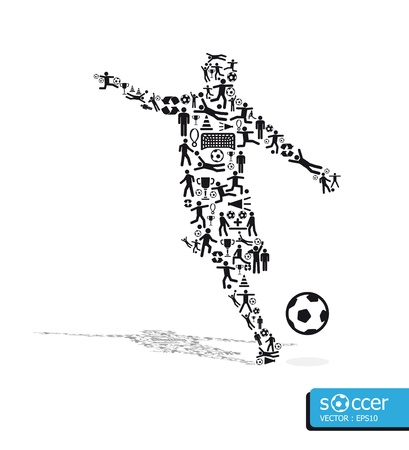 icons sports  concept soccer on white background