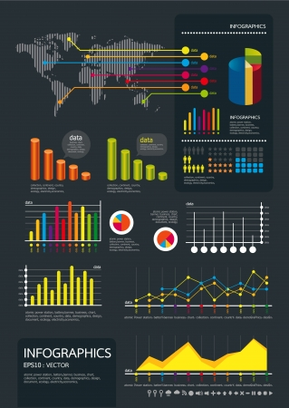 infographics set and Information Graphics Stock Vector - 14835480