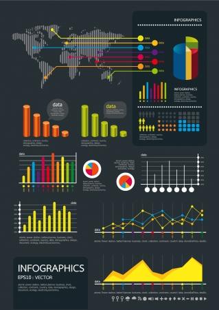 infographics set en Informatie Graphics Vector Illustratie
