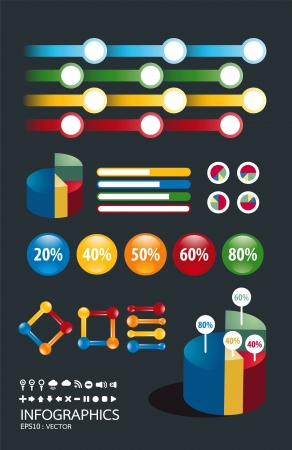 infographics set and Information Graphics Stock Vector - 14835414