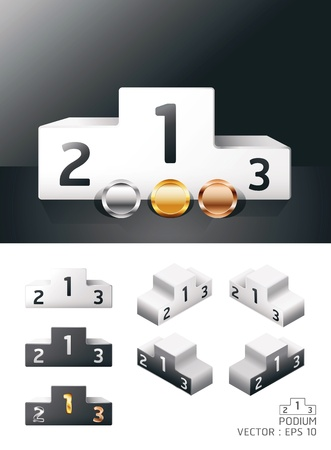 ranking: podium sport  Illustration