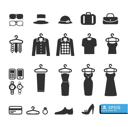 man clothing: Clothing Store Icon vector