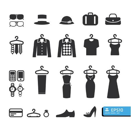 moda: Tienda de ropa Icono vector