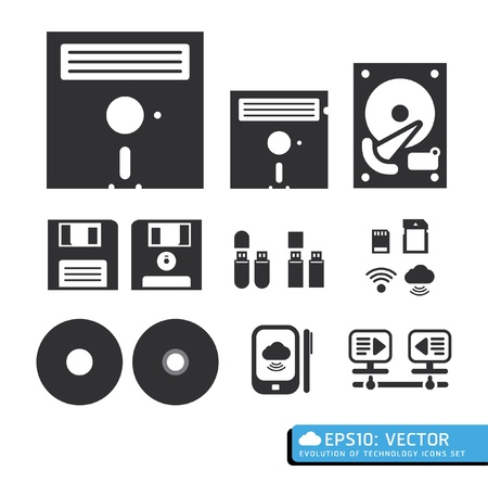 floppy: tool computer web icons vector