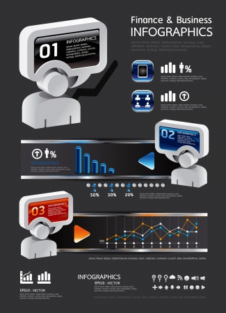 webtemplate: info graphic finance and business vector with icons