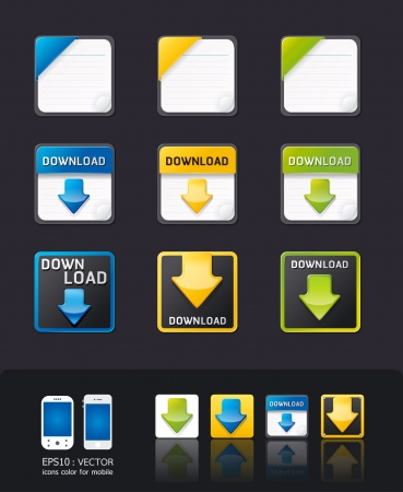 vector apps icon set tablet   mobile phone app Vector