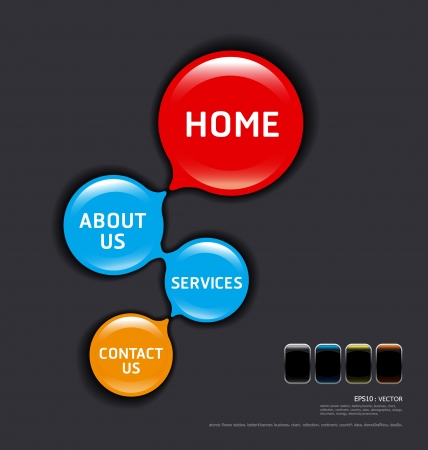circles modern web design template vector Vector