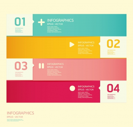 template: Modern soft color Design template    can be used for infographics   numbered banners   horizontal cutout lines   graphic or website layout vector