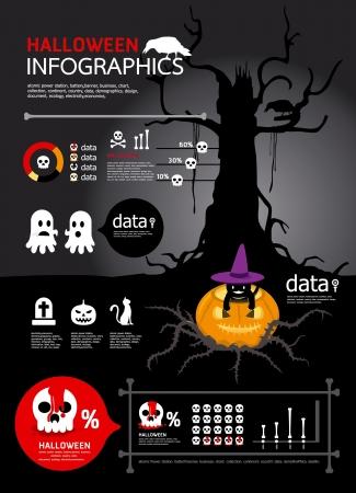infographic helloween vector Stock Vector - 15306774