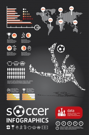 sports bar: socker infographic vector