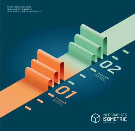 infographic isometric graph Stock Vector - 15328464