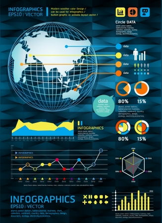 infographics set and Information vector Graphics Modern style Vector