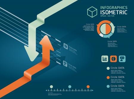 onward: carta infographic diagrama de flechas detallada puede ser utilizado para gr�ficos o infograf�as anunciar ilustraci�n vectorial de dise�o