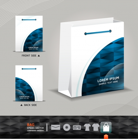 corporate gift: Abstract Vector  bag design    corporate identity design for business set   vector illustration