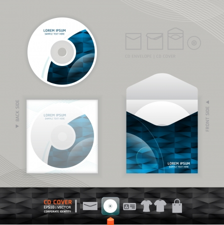 space program: Abstract CD modern Design template   corporate identity design for business set   vector illustration
