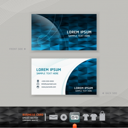 Abstract   modern Business-Card Design template   corporate identity design for business set   vector illustration Stock Vector - 15534091