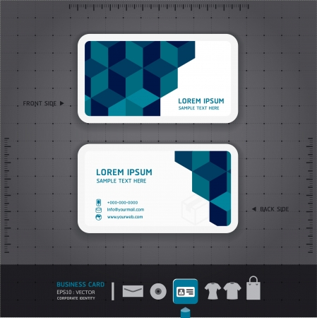 Modern Business-Card  Design template   corporate identity design for business set   vector  Vector