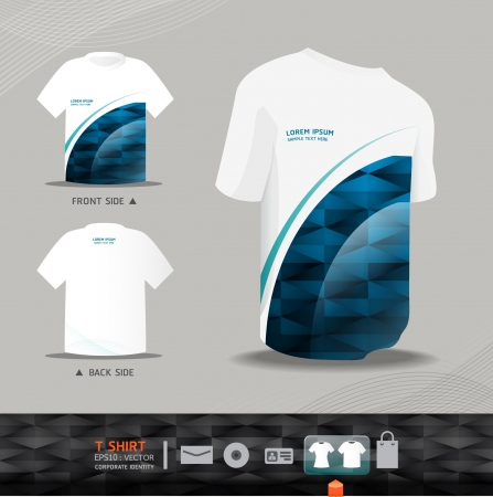Abstract Vector uniform tshirt design    corporate identity design for business set   vector illustration Stock Vector - 15534077