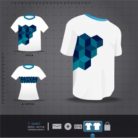 t shirt blue: Abstract Vector uniform tshirt design    corporate identity design for business set   vector illustration