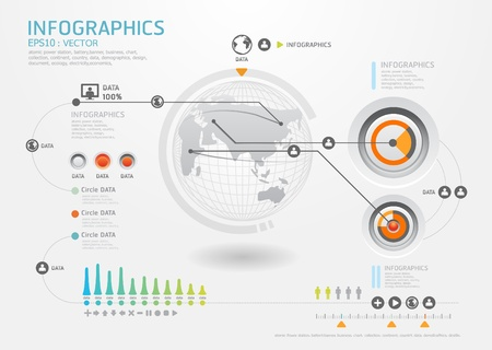 mapas conceptuales: infografía conjunto y la información de estilo de gráficos vectoriales Moderno